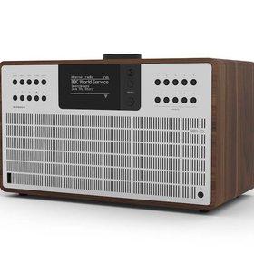 Revo Audio SuperCD - CD-speler - Dab Radio - Internetradio -  Bluetooth AptX - Walnoot/Zilver