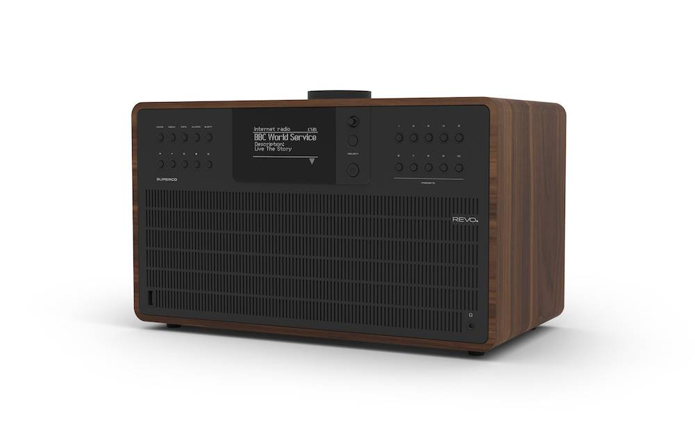 Revo SuperCD - Walnoot/Zwart | CD-speler - Dab Radio - Internetradio - USB -  Bluetooth AptX
