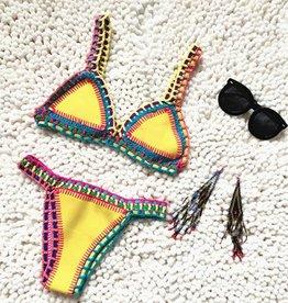 Yellow bohemian bikini
