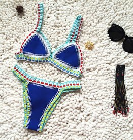 Blue bohemian bikini