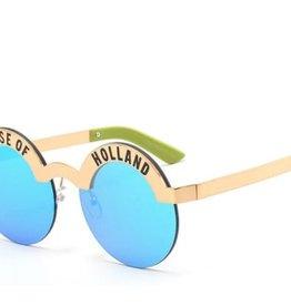 Sunglass girl Holland blue