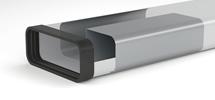 Brug voor drukbelasting platte dampkapbuis 150mm _Compair steel flow buis