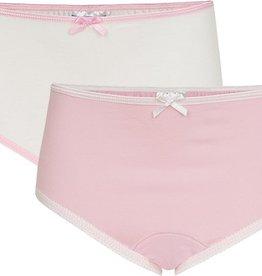 Underwunder Meisjes Slip, wit/roze (prijs per set)