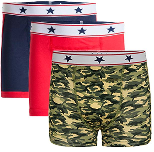Underwunder Boys boxer blue/red/camouflage (set of 3)