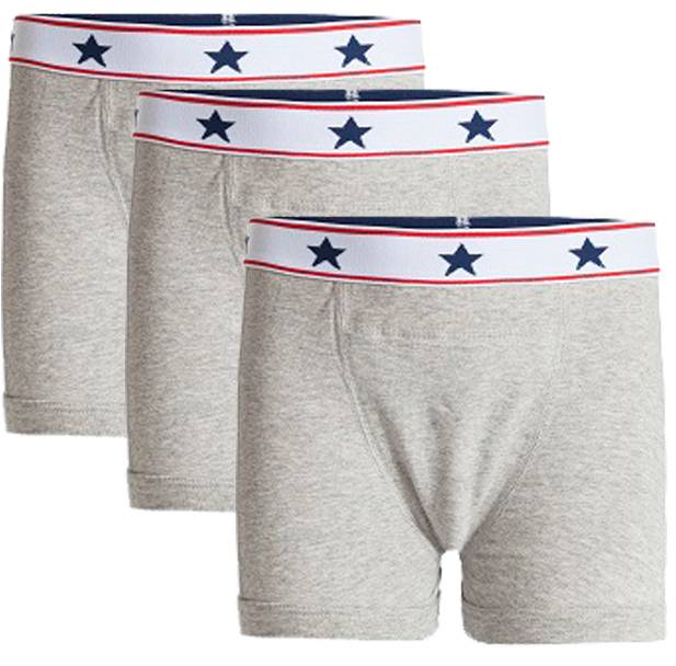 Underwunder Boys boxer grey (set of 3)