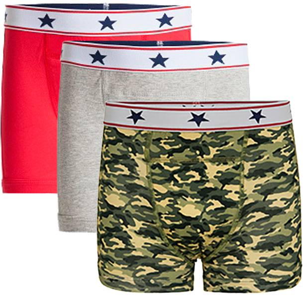 Underwunder Boys boxer red/grey/ camouflage (set of 3)