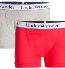 Underwunder Jongens Boxer, rood/grijs met logoband (setprijs)