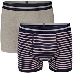 Underwunder Men Boxer Grey/ Stripes (set of 2)