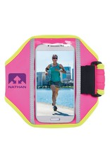 Nathan hardloop accessoires Nathan Super 5K-Universal telefoon armband- Floro Fuchsia