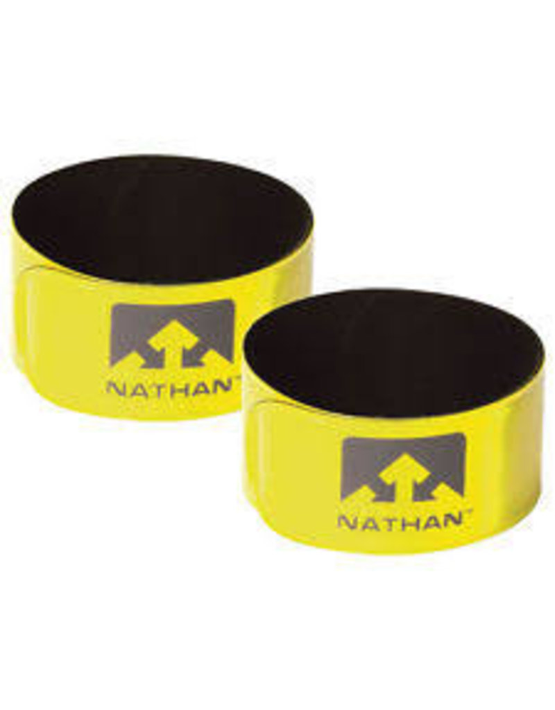 Nathan hardloop accessoires Nathan Reflex 2- pack Hi-Viz Yellow