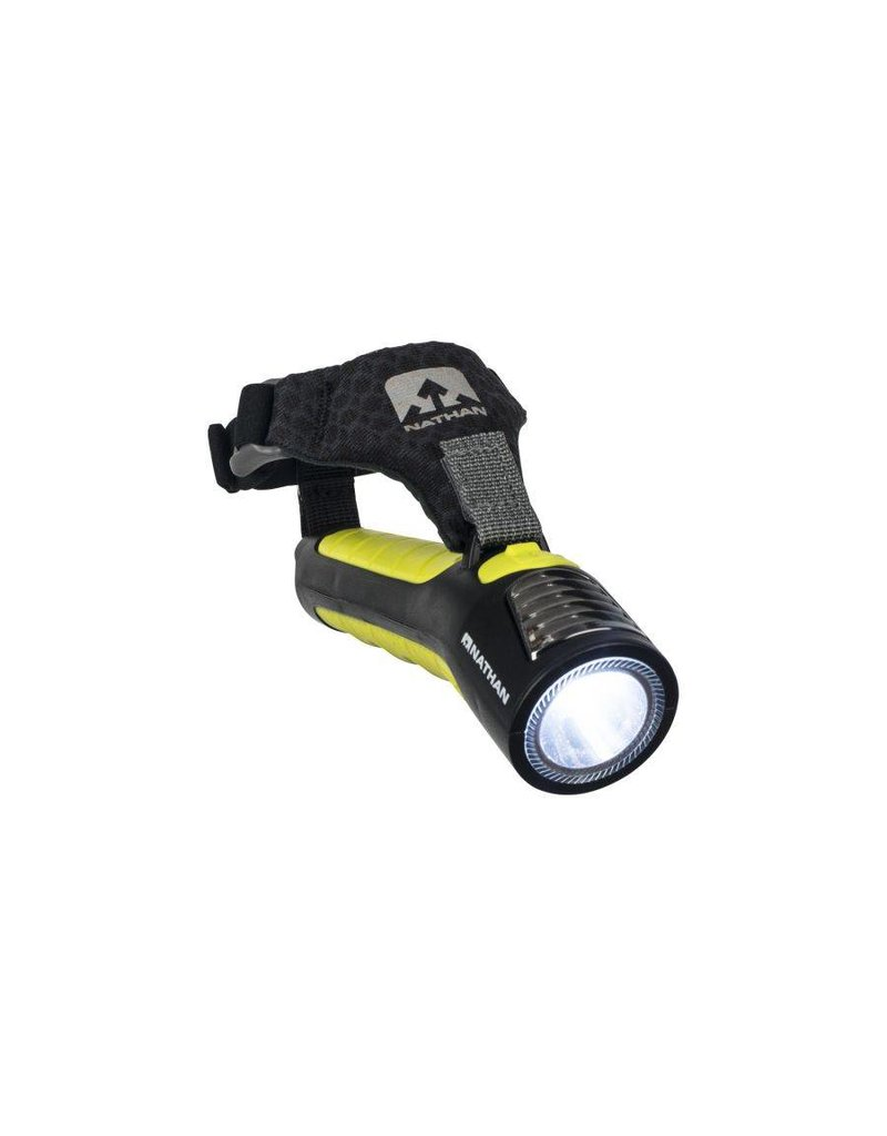 Nathan hardloop accessoires Nathan Zephyr fire 100 hand torch / Black/Sulfur Spring