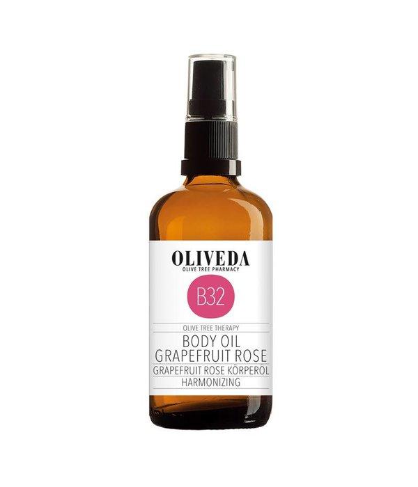 B32 Body Oil Grapefruit Rose Harmonizing 100ml