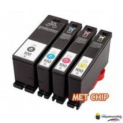 Inktcartridges Lexmark nr.100 XL set (huismerk)