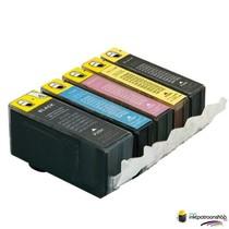 Inktcartridges Canon PGI-520 / CLI-521 set incl grijs (huismerk) met chip