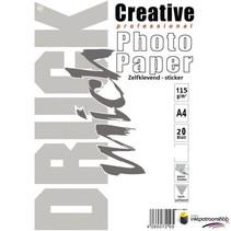 Druckmich Glanzend fotopapier 115g  A4 zelfklevend