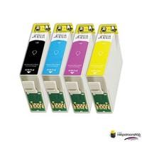 Inktcartridges Epson T-1811 + T-1814 (18XL) set (huismerk)