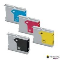 Inktcartridges Brother LC-970 Set (huismerk) Bestel de 2e set voor de helft van de prijs !!