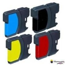 Inktcartridges Brother LC-980 Set (huismerk) Bestel de 2e set voor de helft van de prijs !!
