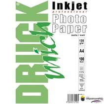Druckmich Mat fotopapier A4, 130 gram, dubbelzijdig
