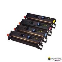 Huismerk inktpatroonshop Toner HP Voordeelset 124A (Q6000A)HC 1x zwart + 3x kleur(huismerk)