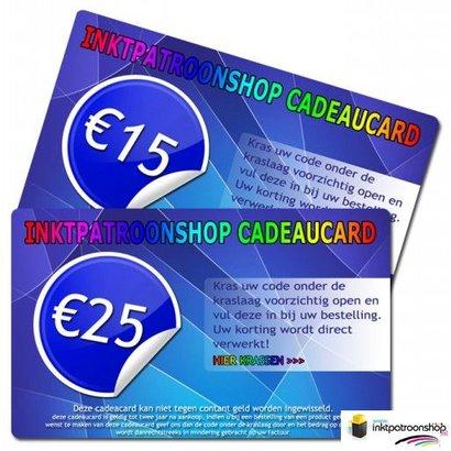 Vanaf 14 t/m 30 april geven wij Cadeaucards van € 25,00 weg!