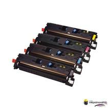 Toner HP Voordeelset 642A (CB400A) 1x zwart + 3x kleur(huismerk)
