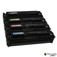 Huismerk inktpatroonshop Toner HP Voordeelset HP 125A (CB540A) 1x zwart + 3x kleur(huismerk)