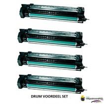 Drum HP Voordeelset HP 824A (CB384A) 1x zwart + 3x kleur(huismerk)