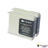 Huismerk inktpatroonshop Inktcartridge Brother LC-1000BK zwart Duopack (huismerk)