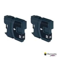 Huismerk inktpatroonshop Inktcartridges Brother LC-980 / LC-1100 zwart Duopack (huismerk)