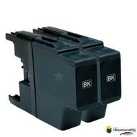 Huismerk inktpatroonshop Inktcartridge Brother LC-1220 / LC-1240BK zwart Duopack (huismerk)