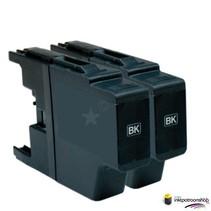 Inktcartridge Brother LC-1220 / LC-1240BK zwart Duopack (huismerk)