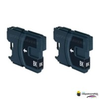Huismerk inktpatroonshop Inktcartridge Brother LC-985BK zwart Duopack (huismerk)
