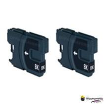 Inktcartridge Brother LC-985BK zwart Duopack (huismerk)