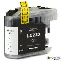 Huismerk inktpatroonshop Inktcartridge Brother LC-223BK zwart (huismerk)