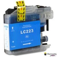 Huismerk inktpatroonshop Inktcartridge Brother LC-223C cyan (huismerk)