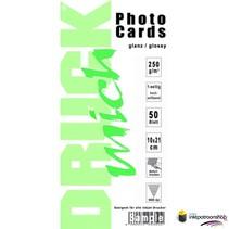 Druckmich glanzend fotopapier, 10x21 cm, 250 gram (ansichtkaart)