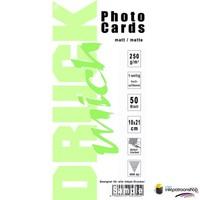 Druckmich mat fotopapier, 10x21 cm, 250 gram (ansichtkaart)