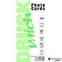 Druckmich mat fotopapier, 10x21 cm, 260 gram dubbelzijdig (ansichtkaart)