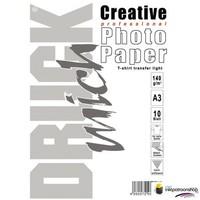 Huismerk inktpatroonshop Druckmich T-shirt transfer papier voor lichte stoffen, A3 formaat