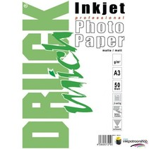 2 X Druckmich Mat fotopapier A3, 180 gram ,dubbelzijdig