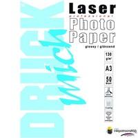 Huismerk inktpatroonshop Druckmich Laser fotopapier A3 130 gram,dubbelzijdig