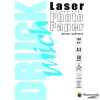 Huismerk inktpatroonshop Druckmich Laser fotopapier A3 160 gram,dubbelzijdig