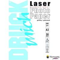 Huismerk inktpatroonshop Druckmich Laser fotopapier A3 200 gram,dubbelzijdig