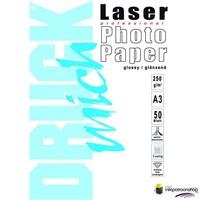 Huismerk inktpatroonshop Druckmich Laser fotopapier A3 250 gram,dubbelzijdig