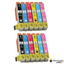 Inktcartridges Epson T-481 + T-486 set (huismerk) Bestel de 2e set voor de helft van de prijs !!