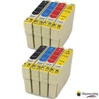 Inktcartridges Epson T-1281 + T-1284 set (huismerk) Bestel de 2e set voor de helft van de prijs.