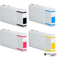 Huismerk inktpatroonshop Inktcartridges Epson T-7011 + T-7014 XXL set (huismerk) Bestel de 2e set voor de helft van de prijs .