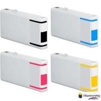 Inktcartridges Epson T-7011 + T-7014 XXL set (huismerk) Bestel de 2e set voor de helft van de prijs .
