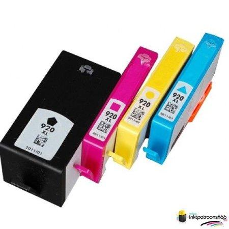 Inktcartridge HP nr.920XL set (huismerk) Bestel de 2e set voor de helft van de prijs !!